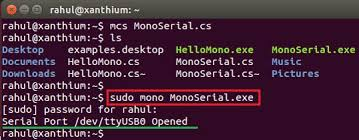 tutorial linux c opening a serial port in linux using mono and c full tutorial at