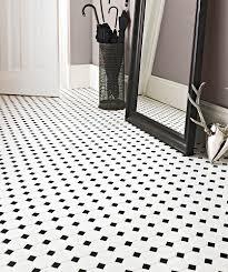 porcelain ceramic white octagon with black dot teranova tiles