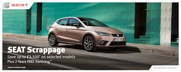 trading in a brand new car new seat scrappage scheme
