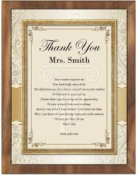 personalized wedding plaque thank you gifts appreciation present mentor professor educator