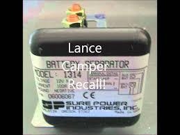 lance camper recall surepower 1314 battery seperator recall