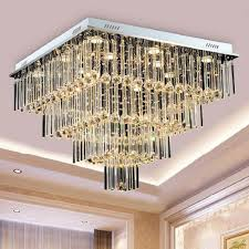 Square Chandelier High End Luxury Led Ceiling Chandeliers Modern Creative
