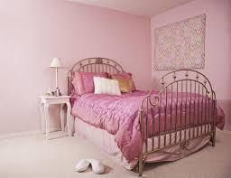 bedroom design pink dark brown wooden platform bed lovely pink