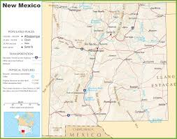 Highway Map Of Usa New Mexico State Maps Usa Maps Of New Mexico Nm