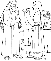 jesus samaritan woman coloring pages samaritan woman