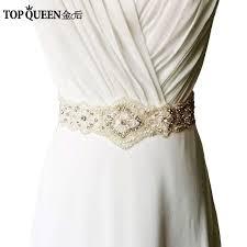 wedding dress sashes topqueen women s s220 rhinestones pearls wedding evening dress