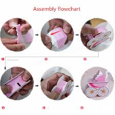 10pcs baby stroller shape gift box wedding baby shower party favor