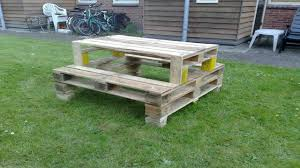 Wooden Picnic Table Plans Bed Pool Wood Picnic Table Made From Pallets Wood Picnic Table