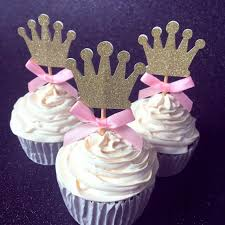 custom cupcake toppers online shop custom bow color gold silver black glitter crown