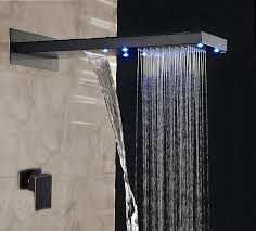 romo rainfall led color changes shower set single handle