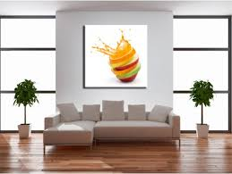 tableau cuisine design tableau cuisine explosion de fruits décoration murale design
