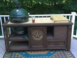 kamado joe grill table plans custom grill tables for kamado joe big green egg primo and dual or
