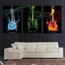 canvas decorations for home 2018 abstract the flame guitar hd wall picture home decor art print