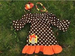 Thanksgiving Dress Baby Thanksgiving Dress Turkey Dress Brown White Polka Dot Dress