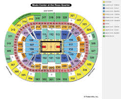 moda center portland or seating chart view