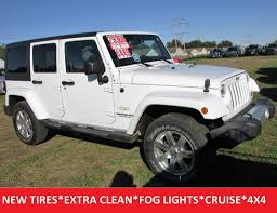 2013 used jeep wrangler unlimited sahara 4x4 heated seats 6spd