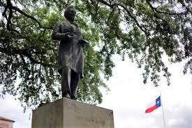 Black Flag Statue Puzzle Should Ut Remove Statue Honoring Confederate Leader Houston