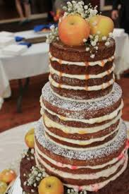 cake with caramel drizzle and green apple topper rustic