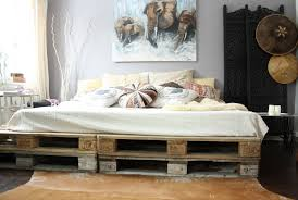 Pallet Platform Bed Two Tiers King Size Wood Pallet Platform Bed Bedroom Surprising