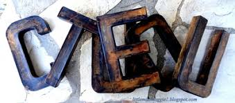 littlemissmaggie rusty letters and a modern masters rust finish
