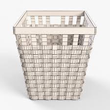 Ikea Wicker Baskets by Wicker Basket Ikea Knarra 2 White Color 3d Model Cgstudio