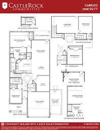 floor plan of the alamo carrizo silver home plan by castlerock communities in creekside ridge