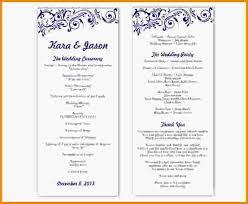 Wedding Program Templates Word Wedding Program Template Word
