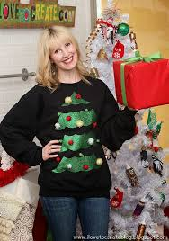 ilovetocreate blog 4 ways to make your own ugly holiday sweater
