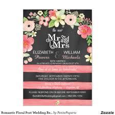 romantic floral post wedding reception only invite romantic