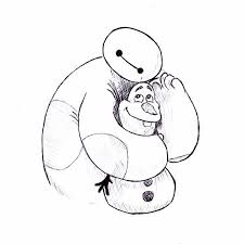 baymax and olaf big hero 6 and frozen by jaenartist on deviantart