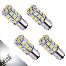 amazon led auto lights amazon com yintatech 4x super white 6000k led car lights bulb 1157