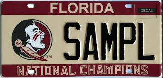 Banned Vanity Plates Redesigned Fsu Specialty License Plate Goes On Sale Florida