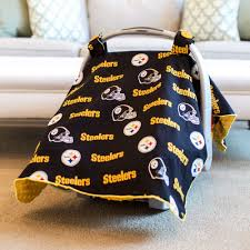 pittsburgh steelers baby gear carseat canopy cover nfl licensed