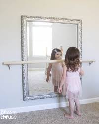 How To Put A Frame Around A Bathroom Mirror by Diy Ballet Barre And How To Hang A Heavy Mirror Ballet Barre