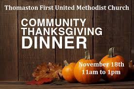 community thanksgiving dinner thomaston umc
