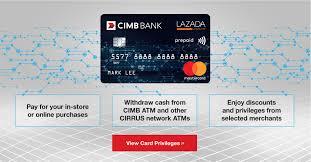 bank prepaid cards cimb lazada prepaid mastercard cimb bank malaysia