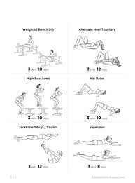 Bedroom Workout No Equipment 62 Best At Home Images On Pinterest Health No Excuses Workout