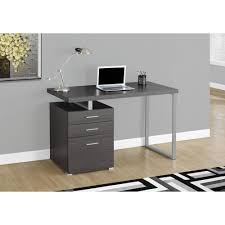 monarch specialties gray desk with file cabinet i 7426 the home