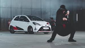 toyota yaris grmn ad shows rhythm is a hatch dancer