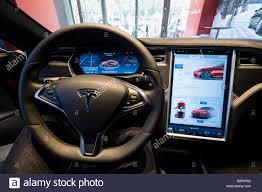 tesla inside hood tesla model s electric car showroom in yorkdale mall toronto