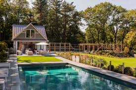 gambrel homes hilltop gambrel pool house architect magazine lda architecture