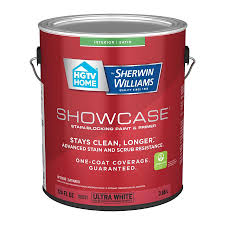what type of sherwin williams paint is best for kitchen cabinets hgtv home by sherwin williams showcase satin ultra white tintable interior paint 1 gallon