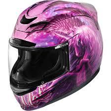 pink motocross helmet icon airmada sweet dreams helmet a pegasus unicorn all in pink