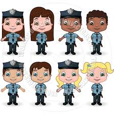 children police officers by meshaq2000 toon vectors eps 9328