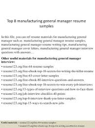 sample resume general manager general manager cv sample