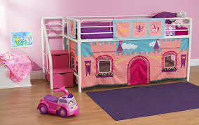 girls bunk bed with slide amazon com dhp curtain set for junior loft bed with princess