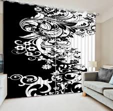 Custom Bedroom Curtains White Online Get Cheap Black Cafe Curtains Aliexpress Com Alibaba Group