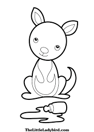 kangaroo coloring picture coloring pages kids