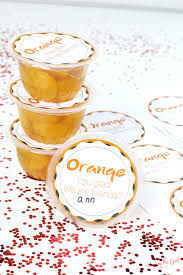 mandarin orange cup valentine free printable