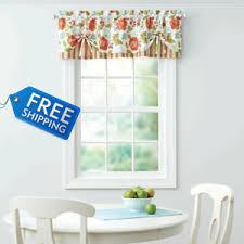 Multi Color Curtains Multi Color Floral Print Stripe Kitchen Curtains Valance Set